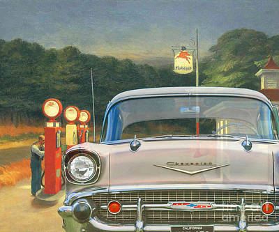 Digital Art - 131115 Bluechip Chevrolet Bel Air Rosa Hopper Tribute by BlueChip Luigi Gallone