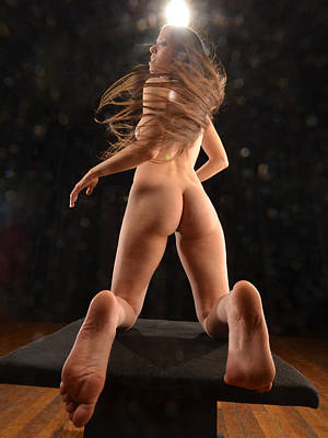 Photograph - 1328 Avonelle Nude From Behind  by Chris Maher