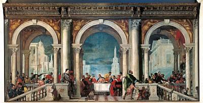 Banquet Photograph - Italy, Veneto, Venice, Accademia Art by Everett