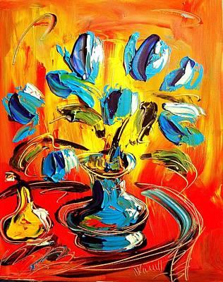 Union Bridge Painting - Flowers by Mark Kazav