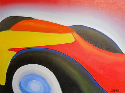 Fiat Car Painting - 136 'flash Fiat' by Gregory Otvos