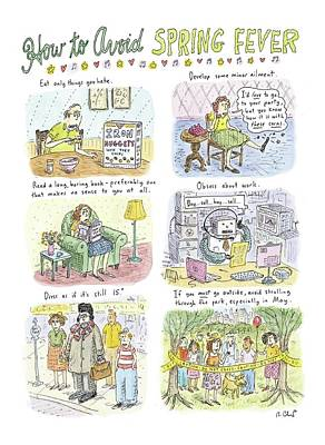 Spring Drawing - How To Avoid Spring Fever by Roz Chast