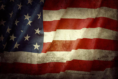 Music Figurative Potraits - American flag No.106 by Les Cunliffe