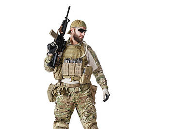 Photograph - Green Berets U.s. Army Special Forces by Oleg Zabielin