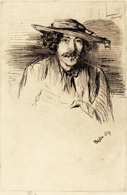 Self-portrait Drawing - James Mcneill Whistler American, 1834 - 1903 by Quint Lox