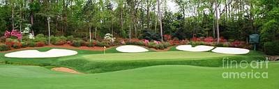 Amen Corner Photograph - 13th Green  Augusta by Tom McGuirk