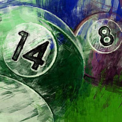 14 8 Billiards Art Print by David G Paul