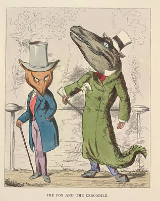 Crocodile Photograph - Aesop Fables by British Library