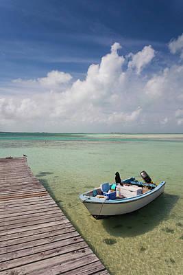 Bahamas Pier Photograph - Bahamas, Eleuthera Island, Harbor by Walter Bibikow