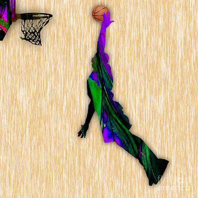 Mixed Media - Basketball by Marvin Blaine