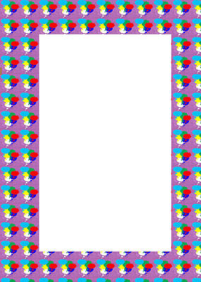 Priska Wettstein Pink Hues - Border Frames Artistic Multiuse Buy Print or DOWNLOAD for self-printing  Navin Joshi Rights Managed  by Navin Joshi