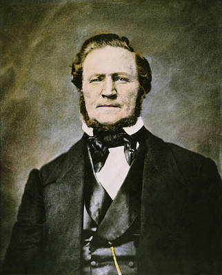 Photograph - Brigham Young (1801-1877) by Granger