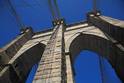 Photograph - Brooklyn Bridge - New York City1 City by Frank Romeo