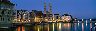 Limmat Photograph - Buildings At The Waterfront by Panoramic Images