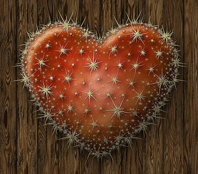 Digital Art - Cactus Heart by James Larkin