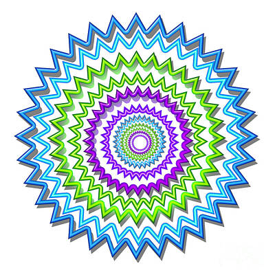 Painting - Colorful Signature Art Chakra Round Mandala By Navinjoshi At Fineartamerica.com Rare Fineart Images  by Navin Joshi