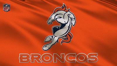 Denver Broncos Uniform Art Print