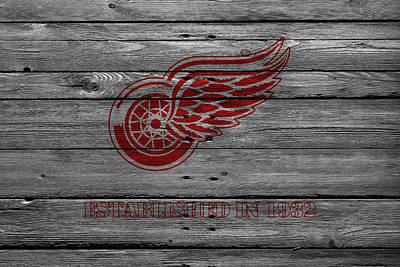 Detroit Red Wings Art Print by Joe Hamilton