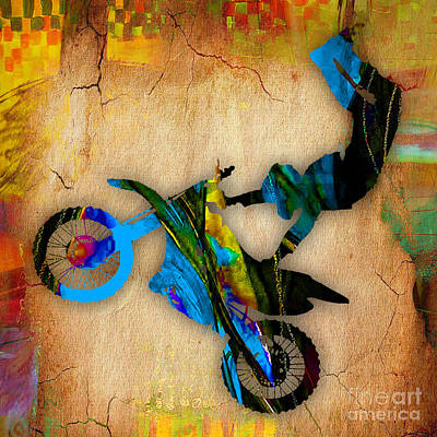 Sport Mixed Media - Dirt Bike by Marvin Blaine