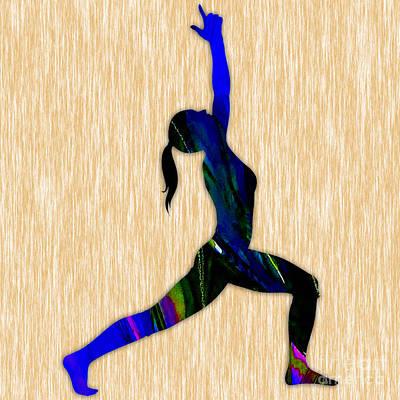 Fitness Yoga Art Print by Marvin Blaine