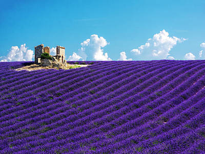 Provence Photograph - France, Provence, Old Farm House by Terry Eggers