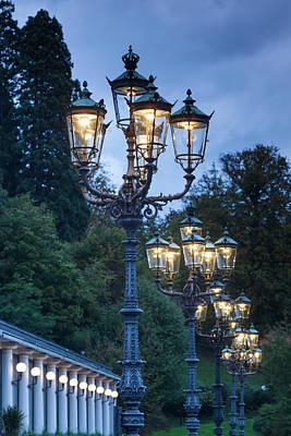 Streetlight Photograph - Germany, Baden-wurttemburg by Walter Bibikow