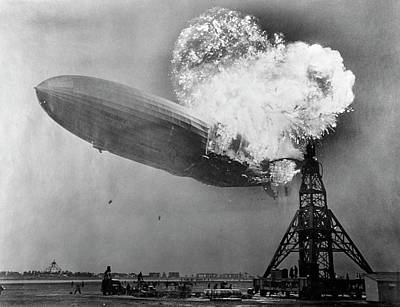 Lighter Photograph - Hindenburg Disaster by Us Navy