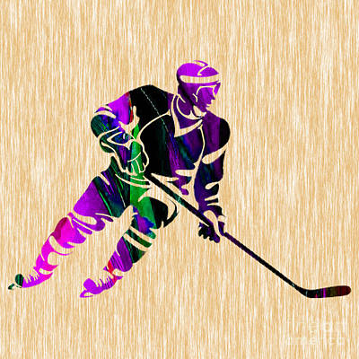 Hockey Art Mixed Media - Hockey by Marvin Blaine