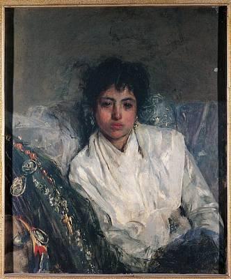 Artwork by Antonio Mancini - Resting, 1887,   Painting   Artstack ...