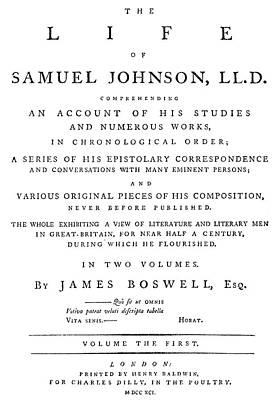 James Boswell (1740-1795) Art Print