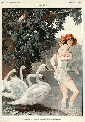 Poster Drawing - La Vie Parisienne  1923 1920s France by The Advertising Archives