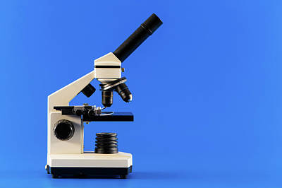 Laboratory Microscope Art Print by Wladimir Bulgar
