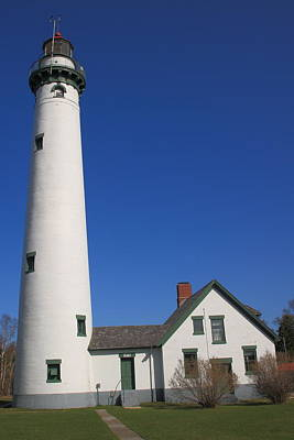 Photograph - Lighthouse - Presque Isle Michigan by Frank Romeo