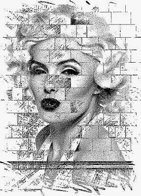 Etc. Digital Art - Marilyn  by HollyWood Creation By linda zanini