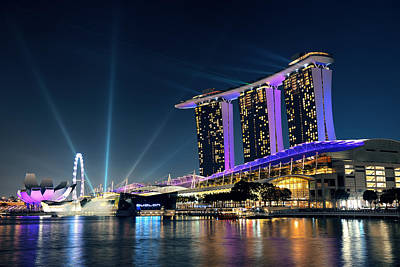 Photograph - Marina Bay Sands by Songquan Deng