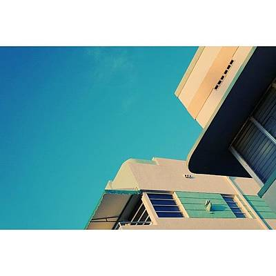 Retro Wall Art - Photograph - {miami Beach's Art Deco}  In 1979 by Joel Lopez