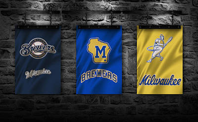 Uniforms Photograph - Milwaukee Brewers by Joe Hamilton