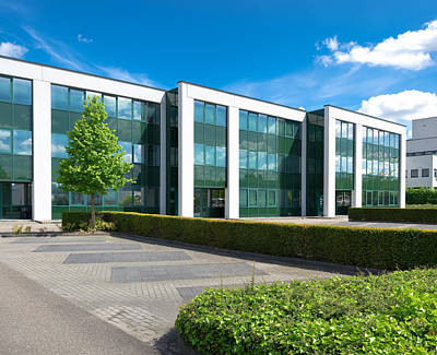 Modern Office Building Print by Hans Engbers