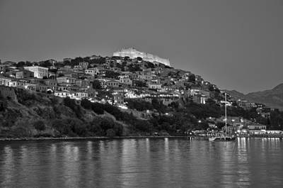 Greece Photograph - Molyvos Village During Dusk Time by George Atsametakis