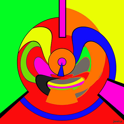 New Ideas Generator The Power Of Colors And Form Art Print