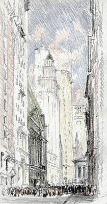 Northeast Drawing - New York Stock Exchange by Granger