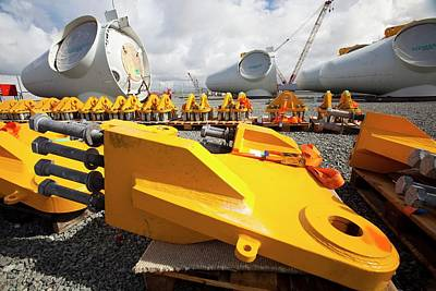 Mostyn Photograph - Parts For The Walney Offshore Wind Farm by Ashley Cooper
