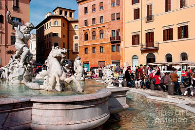 Photograph - Piazza Navona In Rome by George Atsametakis