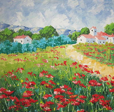 South Of France Painting - Provence by Frederic Payet