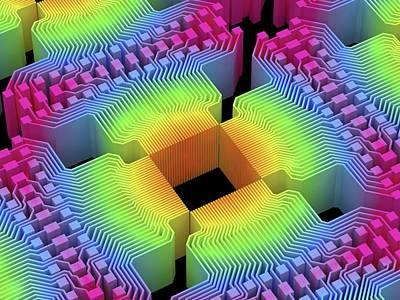Quantum Computer Art Print by Alfred Pasieka