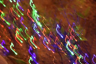 Colourfull Photograph - Random Light Trails As Abstract Art by Michael Crawford-hick