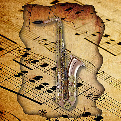 Saxophone Collection Art Print by Marvin Blaine