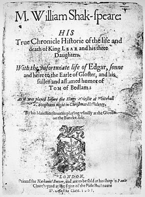 Shakespeare King Lear Art Print