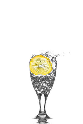 Photograph - Slice Of Lemon In Glass by Peter Lakomy