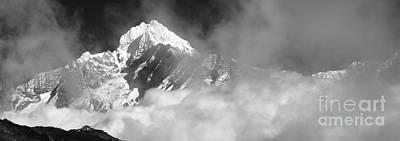 Stellar Interstellar - Snow Capped Thamsherku Mountain Himalayas Nepal by Dave Porter